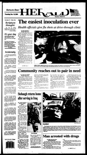 Primary view of Sapulpa Daily Herald (Sapulpa, Okla.), Vol. 90, No. 81, Ed. 1 Thursday, December 16, 2004