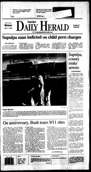 Primary view of Sapulpa Daily Herald (Sapulpa, Okla.), Vol. 91, No. 314, Ed. 1 Monday, September 11, 2006