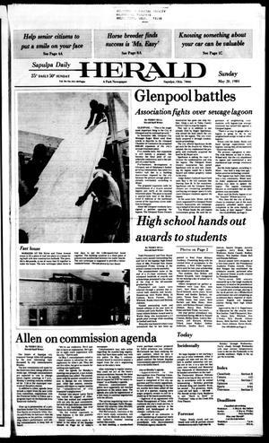 Primary view of Sapulpa Daily Herald (Sapulpa, Okla.), Vol. 70, No. 213, Ed. 1 Sunday, May 20, 1984