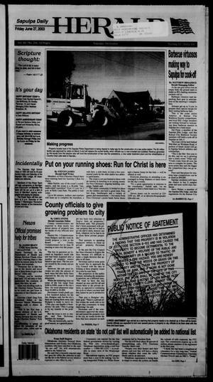 Primary view of Sapulpa Daily Herald (Sapulpa, Okla.), Vol. 88, No. 239, Ed. 1 Friday, June 27, 2003