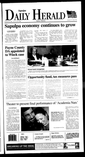 Primary view of Sapulpa Daily Herald (Sapulpa, Okla.), Vol. 91, No. 140, Ed. 1 Wednesday, February 22, 2006
