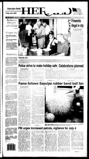 Primary view of Sapulpa Daily Herald (Sapulpa, Okla.), Vol. 89, No. 247, Ed. 1 Friday, July 2, 2004