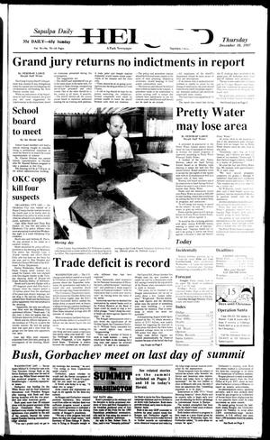 Primary view of Sapulpa Daily Herald (Sapulpa, Okla.), Vol. 74, No. 76, Ed. 1 Thursday, December 10, 1987