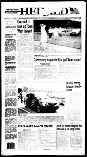Primary view of object titled 'Sapulpa Daily Herald (Sapulpa, Okla.), Vol. 89, No. 261, Ed. 1 Monday, July 19, 2004'.