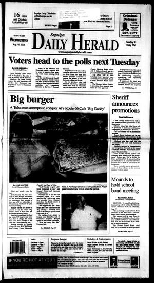 Primary view of Sapulpa Daily Herald (Sapulpa, Okla.), Vol. 91, No. 292, Ed. 1 Wednesday, August 16, 2006
