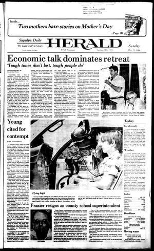 Primary view of Sapulpa Daily Herald (Sapulpa, Okla.), Vol. 72, No. 204, Ed. 1 Sunday, May 11, 1986