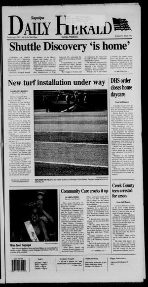 Primary view of Sapulpa Daily Herald (Sapulpa, Okla.), Vol. 90, No. 284, Ed. 1 Tuesday, August 9, 2005