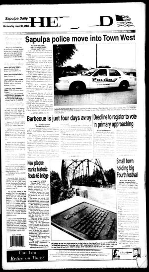 Primary view of Sapulpa Daily Herald (Sapulpa, Okla.), Vol. 89, No. 245, Ed. 1 Wednesday, June 30, 2004