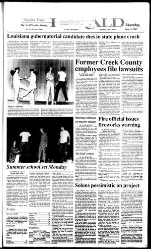 Primary view of Sapulpa Daily Herald (Sapulpa, Okla.), Vol. 73, No. 226, Ed. 1 Thursday, June 4, 1987