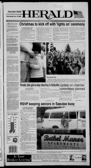 Primary view of Sapulpa Daily Herald (Sapulpa, Okla.), Vol. 89, No. 52, Ed. 1 Wednesday, November 12, 2003