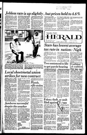 Primary view of Sapulpa Daily Herald (Sapulpa, Okla.), Vol. 67, No. 226, Ed. 1 Friday, June 5, 1981