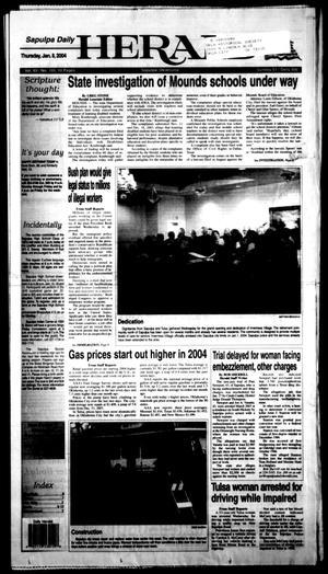 Primary view of Sapulpa Daily Herald (Sapulpa, Okla.), Vol. 88, No. 102, Ed. 1 Thursday, January 8, 2004