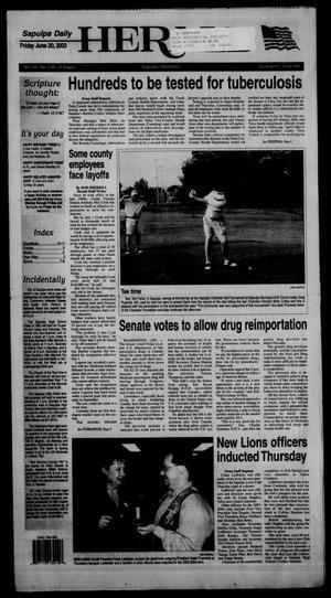 Primary view of Sapulpa Daily Herald (Sapulpa, Okla.), Vol. 88, No. 233, Ed. 1 Friday, June 20, 2003