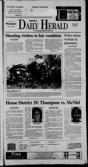 Primary view of Sapulpa Daily Herald (Sapulpa, Okla.), Vol. 91, No. 346, Ed. 1 Wednesday, October 18, 2006
