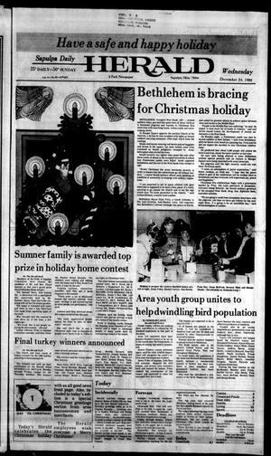Primary view of Sapulpa Daily Herald (Sapulpa, Okla.), Vol. 73, No. 88, Ed. 1 Wednesday, December 24, 1986