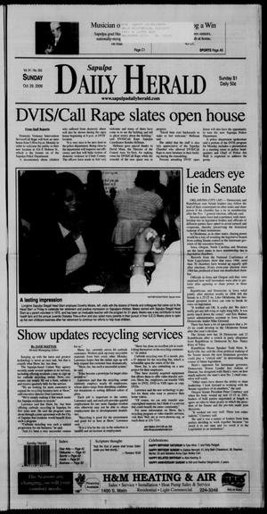 Primary view of Sapulpa Daily Herald (Sapulpa, Okla.), Vol. 91, No. 355, Ed. 1 Sunday, October 29, 2006