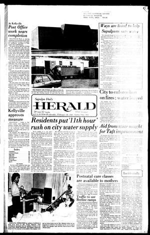 Primary view of Sapulpa Daily Herald (Sapulpa, Okla.), Vol. 67, No. 134, Ed. 1 Wednesday, February 18, 1981