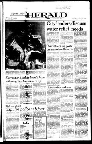 Primary view of Sapulpa Daily Herald (Sapulpa, Okla.), Vol. 67, No. 103, Ed. 1 Tuesday, January 13, 1981