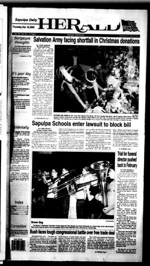 Primary view of Sapulpa Daily Herald (Sapulpa, Okla.), Vol. 88, No. 85, Ed. 1 Thursday, December 18, 2003