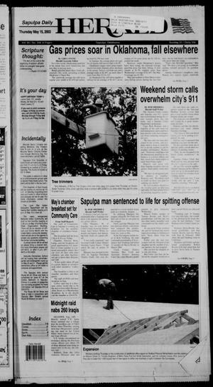 Primary view of Sapulpa Daily Herald (Sapulpa, Okla.), Vol. 88, No. 208, Ed. 1 Thursday, May 15, 2003