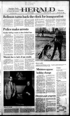 Primary view of Sapulpa Daily Herald (Sapulpa, Okla.), Vol. 73, No. 103, Ed. 1 Monday, January 12, 1987