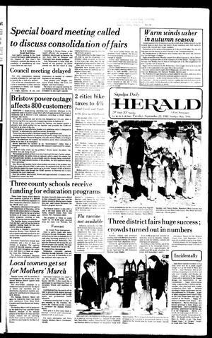 Primary view of Sapulpa Daily Herald (Sapulpa, Okla.), Vol. 68, No. 8, Ed. 1 Tuesday, September 22, 1981