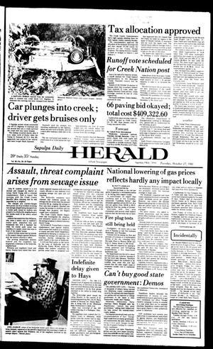 Primary view of Sapulpa Daily Herald (Sapulpa, Okla.), Vol. 68, No. 38, Ed. 1 Tuesday, October 27, 1981