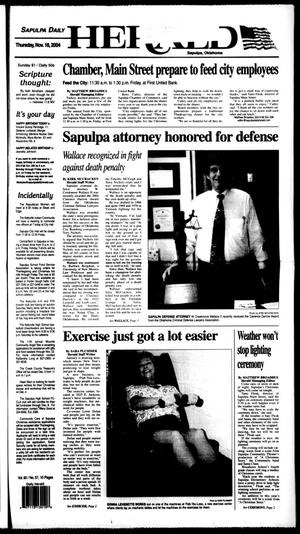 Primary view of Sapulpa Daily Herald (Sapulpa, Okla.), Vol. 90, No. 57, Ed. 1 Thursday, November 18, 2004