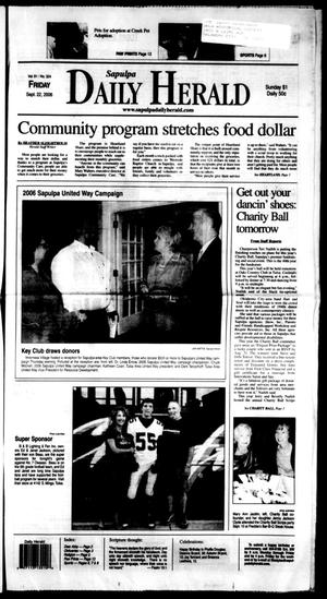Primary view of Sapulpa Daily Herald (Sapulpa, Okla.), Vol. 91, No. 324, Ed. 1 Friday, September 22, 2006