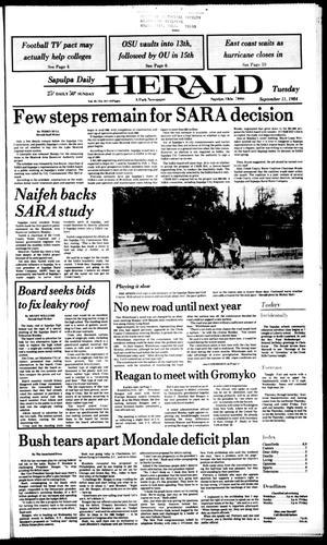 Primary view of Sapulpa Daily Herald (Sapulpa, Okla.), Vol. 70, No. 311, Ed. 1 Tuesday, September 11, 1984