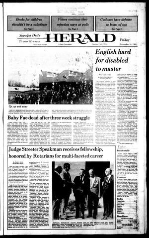 Primary view of Sapulpa Daily Herald (Sapulpa, Okla.), Vol. 71, No. 55, Ed. 1 Friday, November 16, 1984