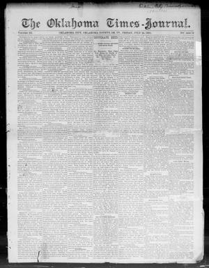 Primary view of The Oklahoma Times-Journal. (Oklahoma City, Okla. Terr.), Vol. 3, No. 12, Ed. 1 Friday, July 24, 1891