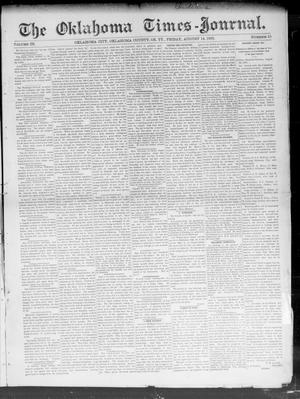 Primary view of object titled 'The Oklahoma Times-Journal. (Oklahoma City, Okla. Terr.), Vol. 3, No. 15, Ed. 1 Friday, August 14, 1891'.