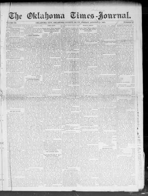 Primary view of object titled 'The Oklahoma Times-Journal. (Oklahoma City, Okla. Terr.), Vol. 3, No. 16, Ed. 1 Friday, August 21, 1891'.