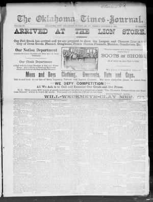 Primary view of The Oklahoma Times-Journal. (Oklahoma City, Okla. Terr.), Vol. 3, No. 23, Ed. 1 Friday, October 9, 1891