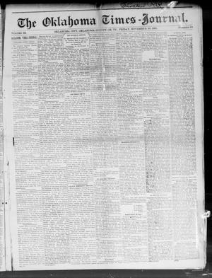 Primary view of object titled 'The Oklahoma Times-Journal. (Oklahoma City, Okla. Terr.), Vol. 3, No. 29, Ed. 1 Friday, November 20, 1891'.