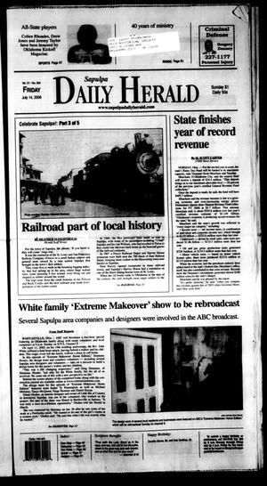 Primary view of Sapulpa Daily Herald (Sapulpa, Okla.), Vol. 91, No. 264, Ed. 1 Friday, July 14, 2006