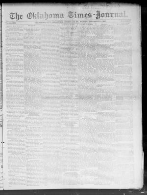 Primary view of object titled 'The Oklahoma Times-Journal. (Oklahoma City, Okla. Terr.), Vol. 3, No. 30, Ed. 1 Friday, December 4, 1891'.