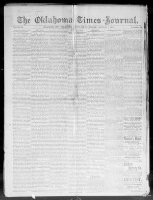 Primary view of object titled 'The Oklahoma Times-Journal. (Oklahoma City, Okla. Terr.), Vol. 3, No. 34, Ed. 1 Friday, January 1, 1892'.