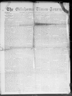 Primary view of object titled 'The Oklahoma Times-Journal. (Oklahoma City, Okla. Terr.), Vol. 3, No. 35, Ed. 1 Friday, January 8, 1892'.