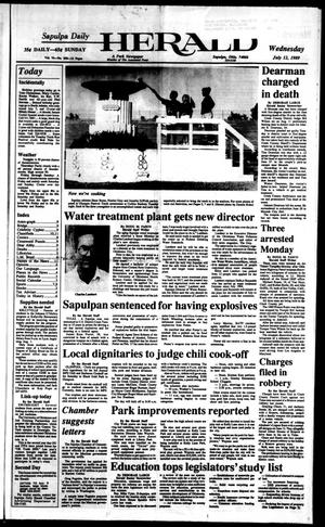 Primary view of Sapulpa Daily Herald (Sapulpa, Okla.), Vol. 75, No. 258, Ed. 1 Wednesday, July 12, 1989