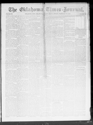 Primary view of object titled 'The Oklahoma Times-Journal. (Oklahoma City, Okla. Terr.), Vol. 3, No. 42, Ed. 1 Friday, February 26, 1892'.