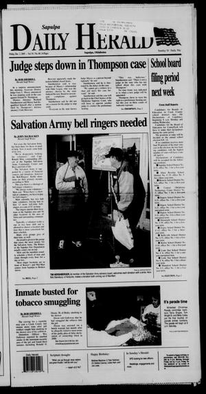 Primary view of object titled 'Sapulpa Daily Herald (Sapulpa, Okla.), Vol. 91, No. 68, Ed. 1 Friday, December 2, 2005'.