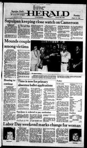 Primary view of Sapulpa Daily Herald (Sapulpa, Okla.), Vol. 72, No. 300, Ed. 1 Sunday, August 31, 1986