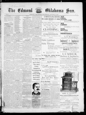 Primary view of The Edmond Oklahoma Sun. (Edmond, Okla.), Vol. 5, No. 4, Ed. 1 Thursday, August 3, 1893