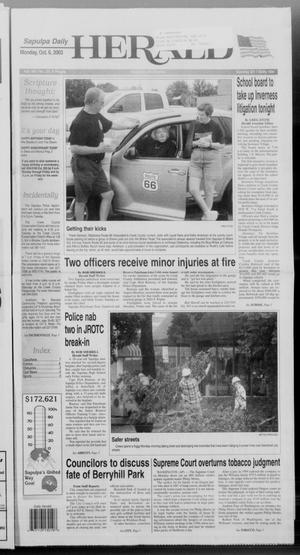 Primary view of Sapulpa Daily Herald (Sapulpa, Okla.), Vol. 89, No. 20, Ed. 1 Monday, October 6, 2003