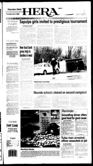 Primary view of Sapulpa Daily Herald (Sapulpa, Okla.), Vol. 89, No. 126, Ed. 1 Thursday, February 5, 2004