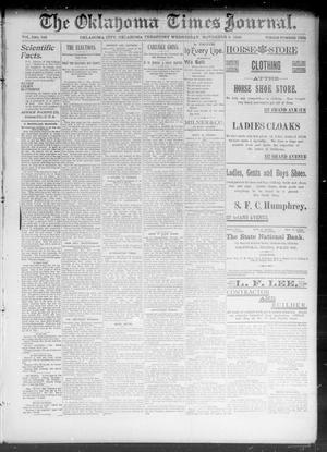 Primary view of The Okahoma Times Journal. (Oklahoma City, Okla. Terr.), Vol. 5, No. 123, Ed. 1 Wednesday, November 8, 1893