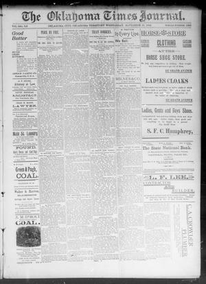 Primary view of The Okahoma Times Journal. (Oklahoma City, Okla. Terr.), Vol. 5, No. 129, Ed. 1 Wednesday, November 15, 1893