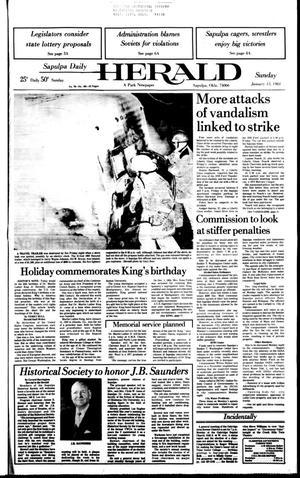 Primary view of Sapulpa Daily Herald (Sapulpa, Okla.), Vol. 70, No. 105, Ed. 1 Sunday, January 15, 1984
